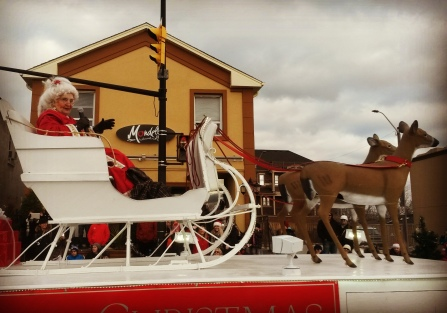Mrs. Claus was riding solo at the Mississauga Santa Claus Parade. Photo: Kelly Roche/QEW South Post