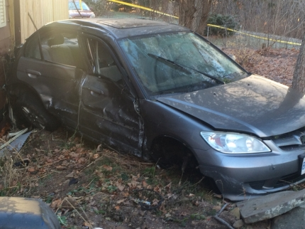 A 23-year-old Mississauga man driving this Honda Civic has been arrested for impaired driving on Nov. 29, 2015. Photo: Peel Regional Police