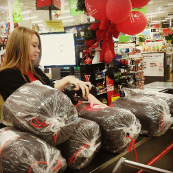 Sleeping bags were on the list as volunteers with the Salvation Army and Peel Regional Police shopped for youth ages 9 to 14 at the Meadowvale Canadian Tire on Wed. December 16, 2015. (Photo: Kelly Roche/QEW South Post)