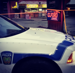 An 18-year-old man was stabbed at Lakeshore Rd. E. and Seneca Ave. in Port Credit on Thursday, Dec. 31, 2015. (Photo: Kelly Roche/QEW South Post)