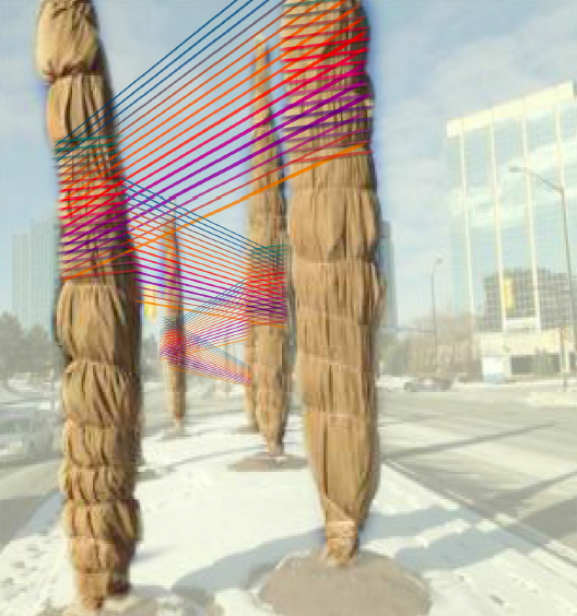 Michael Simon, Marisa Gallemit and Taline Jirian, designed a public art piece. Photo: City of Mississauga