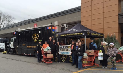 The annual Cram the Cruiser campaign was at Loblaws Port Credit Dec. 12-13, 2015. (Photo: Loblaws Port Credit)