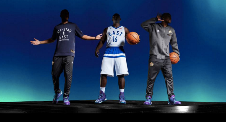 Uniforms for the 2016 NBA all-star game were unveiled Thursday. (Photos: Adidas/NBA)
