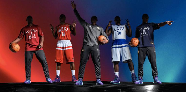Uniforms for the 2016 NBA all-star game were unveiled Thursday. (Photos: Adidas/NBA)