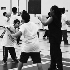 Youth had a ball at the Malton community centre Saturday where 300 kids attended a camp hosted by Peel Police's hoops squad. (Photos: Peel Regional Police)