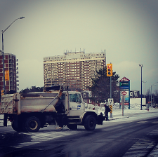 Road conditions were good in Park Royal along Truscott Dr. on Tuesday, Jan. 12, 2016. (Photo: Kelly Roche/QEW South Post)