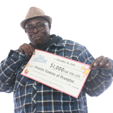Brampton resident Winston Dawkins bought a lucky lottery ticket in Mississauga. (Photo: OLG)