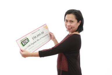 Leslie Regalado Alba of Mississauga scored a $50,000 prize. (Photo: OLG)