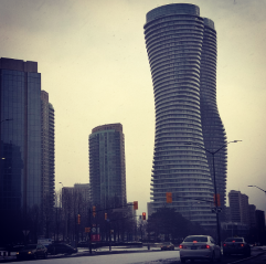 Downtown Mississauga saw its first blast of winter on Tuesday, Jan. 12, 2016. (Photo: Submitted/QEW South Post)