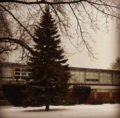 There was no snow day at Allan A. Martin Sr. P.S., as the first blast of winter hit Tuesday, Jan. 12, 2016. (Photo: Submitted/QEW South Post)