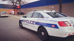 A Fantastic Flea Market vendor was stabbed at Dixie Mall on Sunday, Feb. 21, 2016 and is in the trauma unit with serious injuries. A suspect was arrested nearby by the Peel Police tactical unit. (Photo: Kelly Roche/QEW South Post)
