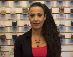 Maggie Costa owns a Lakeshore Rd. E. shop in Port Credit offering assorted items for spiritualists. (Photo: Sukh Toor/QEW South Post)