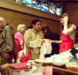 Visitors were scouring finds at the annual St. Stephen's-on-the-Hill United Church garage sale in Lorne Park on May 14, 2016.