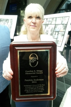 """Port Credit resident Patricia Anderson is the winner of the 2016 Mississauga Citizen of the Year. Anderson is chairwoman of the Mississauga Waterfront Festival. Tens of thousands of children in need attend the festival each year for free. """"We always have to remember that behind anybody that leads in their community is a lot of great people behind them,"""" said Anderson. (Photo: Kelly Roche/QEW South Post)"""