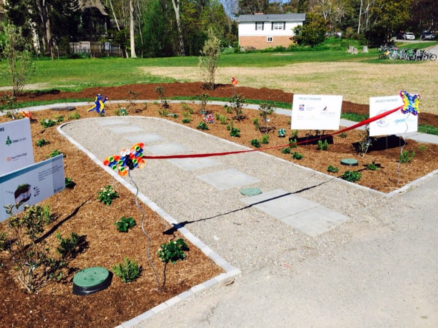A rain garden opened at Kenollie Public School on Wednesday, May 18, 2016. (Photo: Credit Valley Conservation)