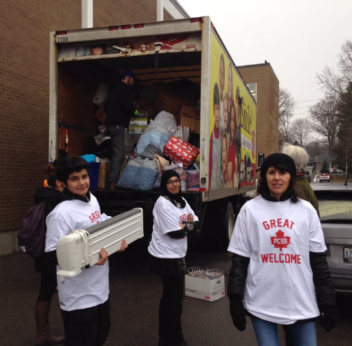 The Great Canadian Welcome ran from Jan. 11-15, 2016, at Port Credit Secondary School. A second drive for Syrian refugees is taking place May 24-27. (Photo: Abedeen Remtulla)