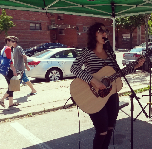 Miss Miriam provided live entertainment at the Port Credit Farmers' Market on June 4, 2016. (Photo: Kelly Roche/QEW South Post)