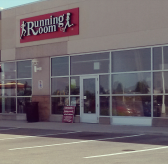 The Running Room's 2530 Winston Park Dr. location near the Oakville-Mississauga border remains open. (Photo: Kelly Roche/QEW South Post)