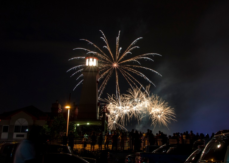 Fireworks are set for 10:10 p.m. on Canada Day in Port Credit. (Photo: Port Credit BIA)