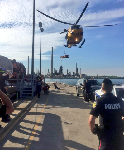 Two people were injured following a collision involving a pair of Sea-Doos in Lake Ontario on Saturday, June 4, 2016. (Photo: Peel Regional Police)