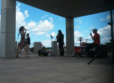 River North performs at the Port Credit lighthouse on Saturday, July 9, 2016. (Photo: Kelly Roche/QEW South Post)