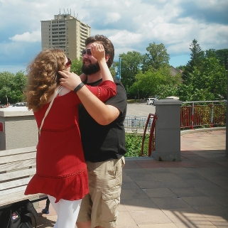 Michaela Morris and Tudor Gagea dance as River North performs a Drake track at the Port Credit lighthouse on Saturday, July 9, 2016. (Photo: Kelly Roche/QEW South Post)