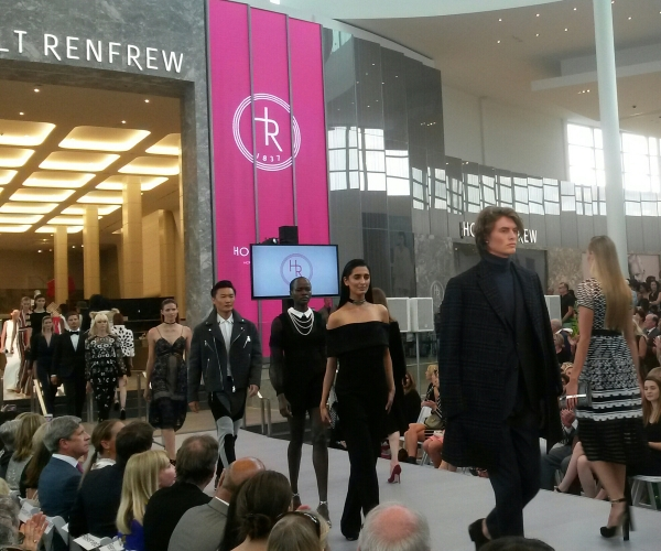 A fashion show took place at the launch of the Holt Renfrew store at Square One on Wednesday, July 27, 2016. (Photo: Kelly Roche/QEW South Post)