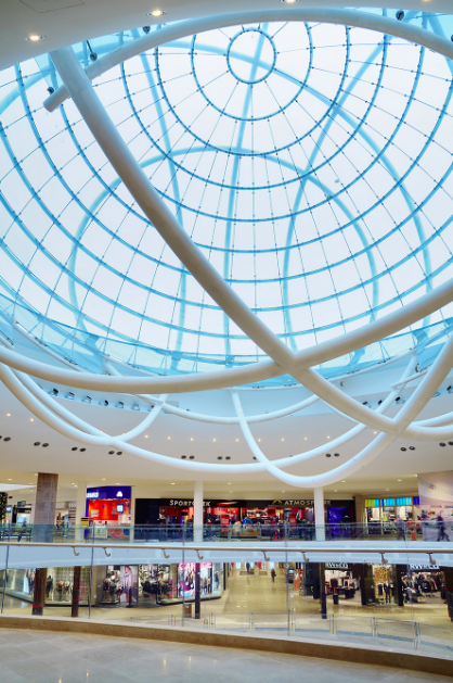 The infinity fountain is under the sphere in the mall's centre court. (Photo: Erin Mills Town Centre)