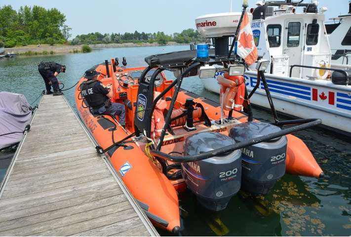 Officers are gearing for the Civic holiday with Operation Dry Water, a campaign targeting impaired boating. (Photo: Peel Regional Police)