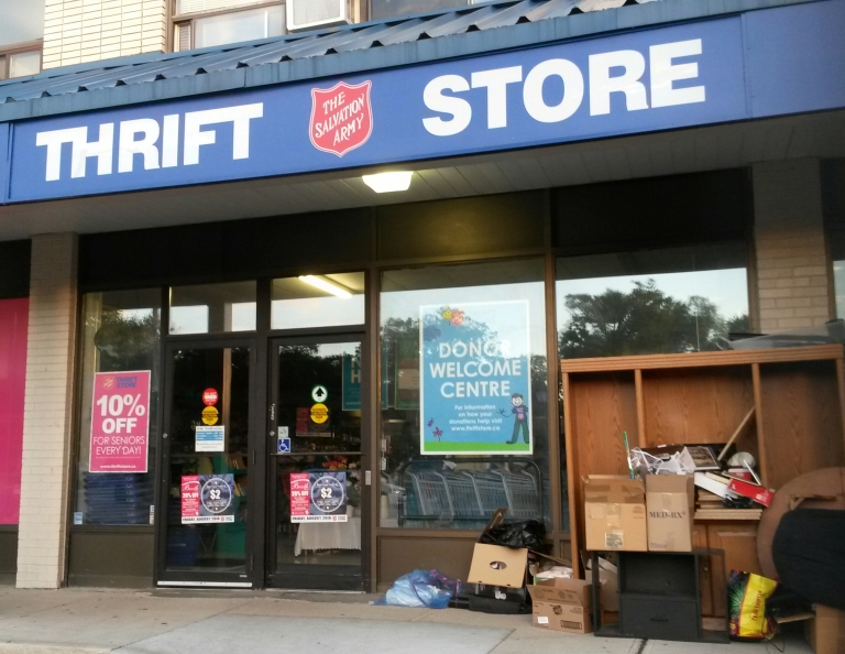Salvation Army Thrift Stores, including the Port Credit location, will be selling items donated via the Region of Peel's Community Recycling Centres. (Photo: Kelly Roche/QEW South Post)
