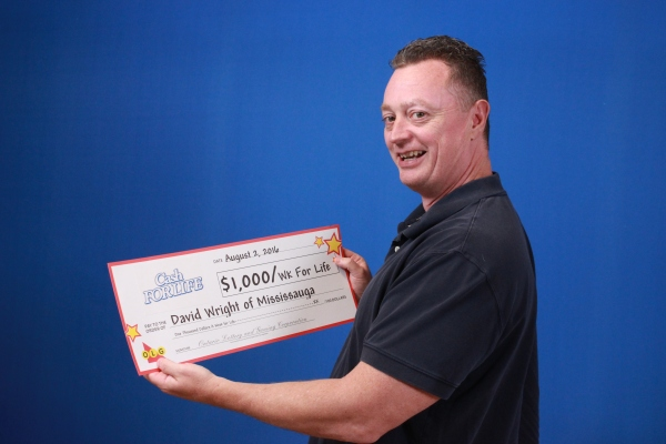Mississauga resident David Wright is the latest winner of $1,000 a week for life. (Photo: OLG)