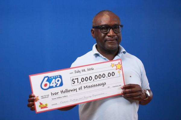 Mississauga's Ivor Holloway is the winner of $7 million. (Photo: OLG)
