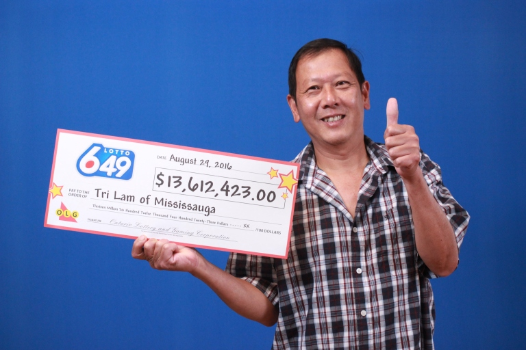 Tri Lam of Mississauga walked out of the OLG Prize Centre in Toronto a big winner. (Photo: OLG)