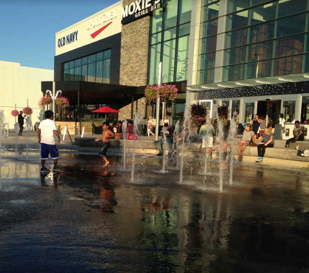 Children enjoy the end of summer at Square One in downtown Mississauga. (Photo: Emma Schatochin)