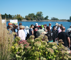 Residents and stakeholders attend a community BBQ on Saturday, Sept. 24, 2016 to celebrate the Lakeview Waterfront Connection project in south Mississauga. (Photo: Emma Schatochin/QEW South Post)