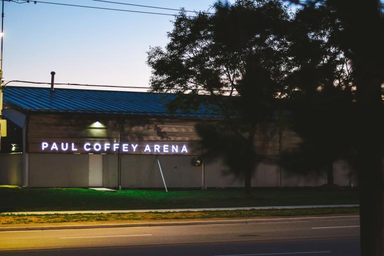Paul Coffey Arena is located at 3430 Derry Rd. E. in Mississauga. (Photo: Matt R. DaSilva)