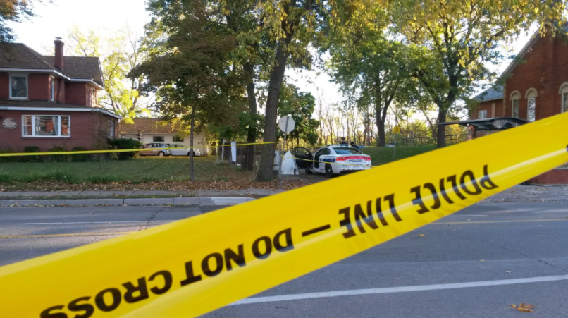 A man is dead following a Streetsville shooting on Saturday, Oct. 22, 2016. (Photo: Kelly Roche/QEW South Post)