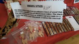 Original items, such as this hiking stick, were on display at the inaugural Cranberry Christmas Market at Clarke Hall in Port Credit on Saturday, Dec. 3, 2016. (Photo: Kelly Roche/QEW South Post)