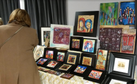 Art was everywhere as vendors set up their booths at the inaugural Cranberry Christmas Market at Clarke Hall in Port Credit on Saturday, Dec. 3, 2016. (Photo: Kelly Roche/QEW South Post)